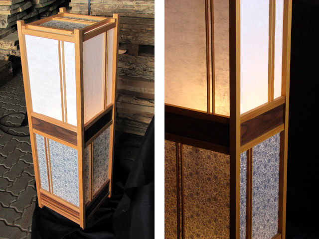 Traditionelle Japan-Lampen (Andon) mit Papierbespannung